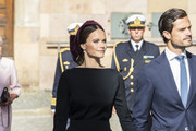 Princess Sofia of Sweden and Prince Carl Philip of Sweden attend a church ceremony in connection with the opening of the Parliamentary session at the Stockholm Cathedral on September 10, 2019 in Stockholm, Sweden.