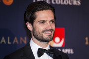 Prince Carl Philip the Duke of Varmland walks the red carpet when arriving at Idrottsgalan, the annual Swedish sports awards gala held at the Ericsson Globe Arena on January 15, 2018 in Stockholm, Sweden.