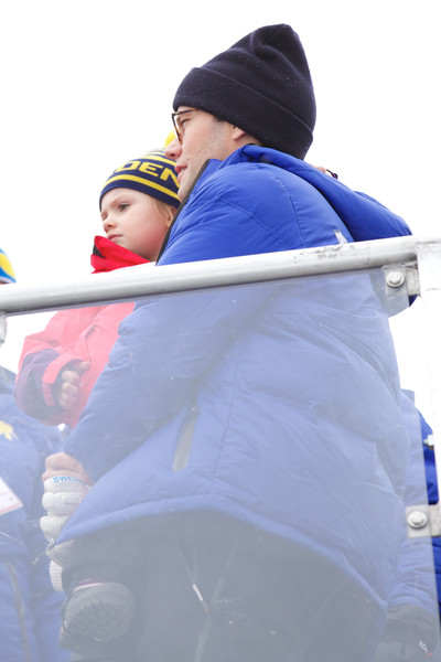 Princess Estelle of Sweden and Prince Daniel of Sweden attend the FIS Nordic World Ski Championships on March 1, 2015 in Falun, Sweden.