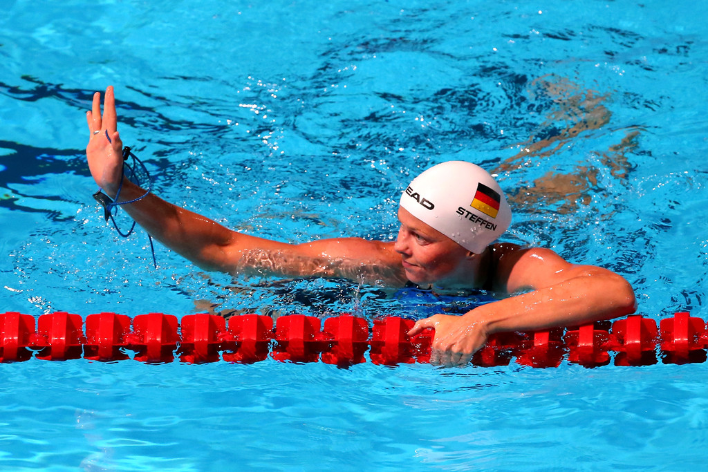 Swimming 15th fina world championships day thirteen for Swimming pool show barcelona
