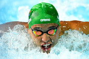 Chad le Clos of South Africa competes during the Men's 100m Butterfly Semifinal 2 on day four of the Gold Coast 2018 Commonwealth Games at Optus Aquatic Centre on April 8, 2018 on the Gold Coast, Australia.