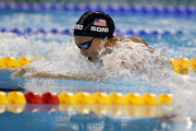 Rebecca Soni of the United States competes in the Women's 50m Breaststroke Final during Day Sixteen of the 14th FINA World Championships at the Oriental Sports Center on July 31, 2011 in Shanghai, China.
