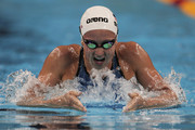 Rebecca Soni of the United States competes in heat five of the Women's 200m Breaststroke heats during Day Thirteen of the 14th FINA World Championships at the Oriental Sports Center on July 28, 2011 in Shanghai, China.