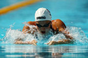 Rebecca Soni of the United States competes in the Women's 100m Breaststroke Heats during the 13th FINA World Championships at the Stadio del Nuoto on July 27, 2009 in Rome, Italy.