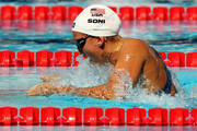 Rebecca Soni of United States competes in the Women's 100m Breaststroke Heats during the 13th FINA World Championships at the Stadio del Nuoto on July 27, 2009 in Rome, Italy.