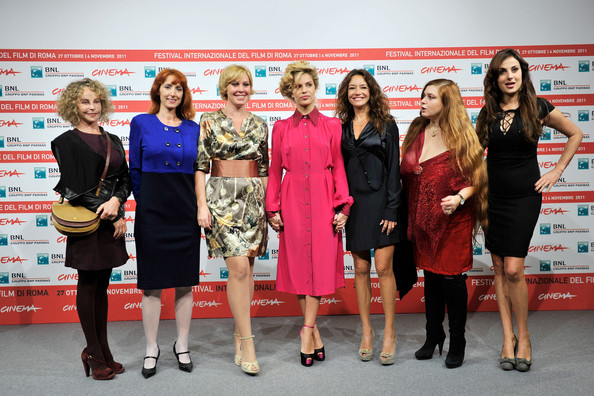 """Il Cuore Grande Delle Ragazze"" Photocall - Rome Film Fest [il cuore grande delle ragazze,red,event,fashion,carpet,dress,award,fashion design,award ceremony,competition,flooring,sara pastore,micaela ramazzotti,stefania barca,manuela morabito,rita carlini,photocall,l-r,rome,international rome film festival]"