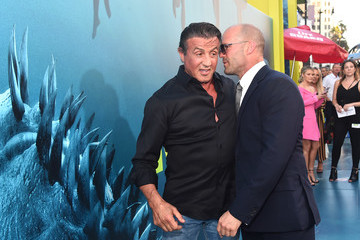 Sylvester Stallone Jason Statham Warner Bros. Pictures And Gravity Pictures' Premiere Of 'The Meg' - Red Carpet