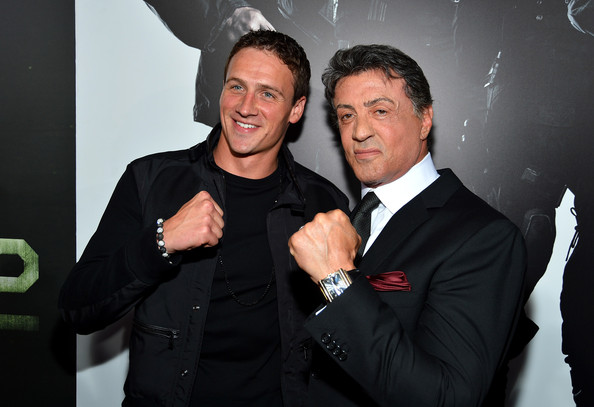 Photo of Sylvester Stallone & his friend athlete  Ryan Lochte - United States