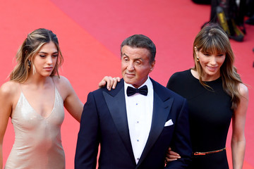 Sylvester Stallone Sistine Rose Stallone Closing Ceremony Red Carpet - The 72nd Annual Cannes Film Festival