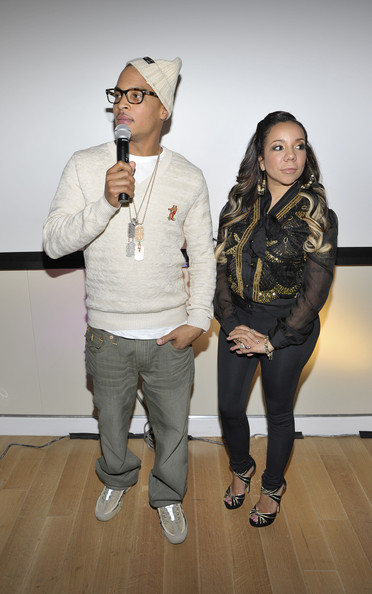 T.I. T.I. and Tiny attend the premiere screening of T.I. & Tiny: The Family Hustle at the Yotel Hotel on December 1, 2011 in New York City.