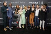 (l-r) Actors Brett Gelman, Glynn Turman,  Breeda Wool, Holland Taylor, Justine Lupe, Rarmian Newton, Claire Bronson, Josh Daugherty, Kate Mulgrew and Gabriel Ebert attend AT&T AUDIENCE Network SAG screening and panel for Mr. Mercedes Season 3 at Linwood Dunn Theater at the Pickford Center for Motion Study on September 10, 2019 in Hollywood, California.