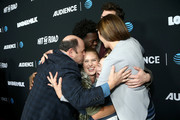 """Jason Alexander, Tim Johnson Jr., Nick Marini, Maddie Dixon-Poirier, Amy Pietz and Natalie Sharp attend attends the AT&T AUDIENCE Network Premieres """"Loudermilk"""" And """"Hit The Road"""" on October 10, 2017 in Los Angeles, California."""