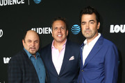 """Jason Alexander, Chris Long and Ron Livingston attend the AT&T AUDIENCE Network Premieres """"Loudermilk"""" And """"Hit The Road"""" on October 10, 2017 in Los Angeles, California."""