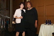 Chef/ honoree Ariane Duarte  poses for a photo with host Robin Quivers poses during the T.J. Martell Foundation 4th Annual Women Of Influence Awards on May 13, 2016 in New York, New York.