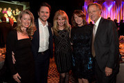 Pictured are (l-r): Patty Hanson, Charles Esten, T.J. Martell Foundation's Laura Heatherly, Crissy Haslam, and Tennessee Governor Bill Haslam at the T.J. Martell Foundation's 7th Annual Nashville Honors Gala at Omni Hotel Downtown on March 30, 2015 in Nashville, Tennessee.