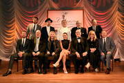 (Back row L-R) Brett Eldredge, Mat Kearney, Chef Jonathan Waxman, wine host and TJ Martell supporter Tom Black, Kix Brooks; (front row L-R) Dierks Bentley, Steve Cropper, Tommy Shaw, Jana Kramer, CEO of Warner Music Nashville John Esposito,  T.J. Martell CEO Laura Heatherly, and Capitol Christian Music Group president/CEO Bill Hearn attend the 16th Annual Nashville Best Cellars Dinner hosted by the T.J. Martell Foundation at City Winery Nashville on April 27, 2015 in Nashville, Tennessee.