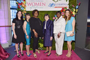 (L-R) Executive Vice President, Corporate Development and CFO of SESAC, Kelli Turner, CEO, StriVectin Oeratin Company, Inc., JuE Wong, radio personality Robin Quivers, Wayne E. Chapman Chair in Psychiatric Oncology Memorial Sloan Kettering Cancer Center, Jimmie C. Holland, M.D., Third highest ranking officer in New York Citys Transit Union Local 100, LaTonya Crisp-Sauray, and Designer Elaine Turner attend the T.J. Martell Foundation's Women of Influence Awards on May 1, 2015 in New York City.