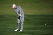 Brandt Snedeker of the United States plays his second shot on the second hole during the first round of the AT&T Pebble Beach Pro-Am at Pebble Beach Golf Links on February 07, 2019 in Pebble Beach, California.