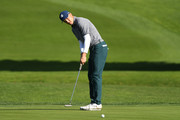 Jordan Spieth of the United States putts on the 16th green during the third round of the AT&T Pebble Beach Pro-Am at Pebble Beach Golf Links on February 09, 2019 in Pebble Beach, California.