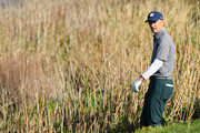 Jordan Spieth of the United States looks for his ball on the sixth hole during the third round of the AT&T Pebble Beach Pro-Am at Pebble Beach Golf Links on February 09, 2019 in Pebble Beach, California.