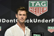TAG Heuer Celebrates The 102nd Running Of The Indianapolis 500 Race As The Official Timepiece With Brand Ambassador, Chris Hemsworth
