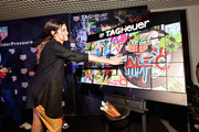 Paulina Vega attends the TAG Heuer celebration of Art Basel Miami 2018 with the launch of Alec Monopoly's special edition timepieces on December 6, 2018 in Miami, Florida.