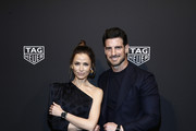 Almudena Fernandez and Aitor Ocio attend The Launch of The New Connected Watch by TAG Heuer at The Caldwell Factory on March 12, 2020 in New York City.