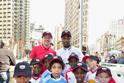 MLS soccer players Shannon Gomez and Dax McCarty and Street Soccer USA youth players attend as TAG Heuer presents the Major League Soccer Rivalry Week #DontCrackUnderPressure Free Kick Challenge on May 19, 2016 in New York City.