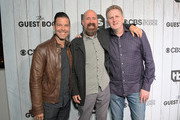 """(L-R) Executive Vice President for Original Programming at TBS Brett Weitz, Greg Garcia and Michael Rapaport attend TBS """"The Guest Book"""" Season 2 premiere at EPLP Restaurant on October 16, 2018 in West Hollywood, California."""