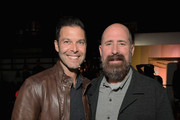 """Executive Vice President for Original Programming at TBS Brett Weitz and Greg Garcia attend TBS """"The Guest Book"""" Season 2 premiere at EPLP Restaurant on October 16, 2018 in West Hollywood, California."""