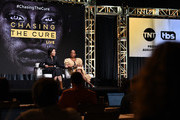 """(L-R) Ann Curry and Kim Bondy speak onstage at the """"Chasing The Cure"""" panel during the TBS + TNT Summer TCA 2019 at The Beverly Hilton Hotel on July 24, 2019 in Beverly Hills, California. 637825"""