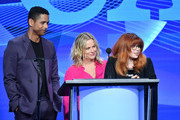 "(L-R) Charlie Barnett, Amy Poehler and Natasha Lyonne accept the Outstanding New Program Award for ""Russian Doll"" onstage during the TCA Awards at The Beverly Hilton Hotel on August 03, 2019 in Beverly Hills, California."
