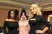 (L-R) Actresses Niecy Nash, Karrueche Tran and Jenn Lyon of 'Claws' pose in the green room during the TCA Turner Winter Press Tour 2017 Presentation at The Langham Resort on January 14, 2017 in Pasadena, California.  26574_002