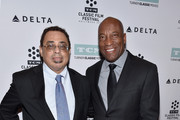 Film historian/author Donald Bogle (L) and director/producer John Singleton attend 'Boyz n the Hood' screening during day 2 of the TCM Classic Film Festival 2016 on April 29, 2016 in Los Angeles, California. 25826_008