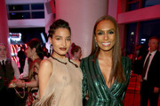Indya Moore and Janet Mock attend the TIME 100 Gala 2019 Cocktails at Jazz at Lincoln Center on April 23, 2019 in New York City.