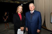 Former Vice-President Al Gore (R) and former Managing Editor for TIME magazine, Nancy Gibbs pose during the TIME 100 Health Summit at Pier 17 on October 17, 2019 in New York City.