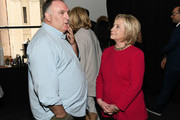 Jose Andres and Hillary Clinton attend the TIME 100 Summit 2019 on April 23, 2019 in New York City.