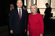 Kai-Fu Lee and Hillary Clinton attend the TIME 100 Summit 2019 on April 23, 2019 in New York City.