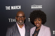 "Executive Producers of ""The March"" Julius Tennon (L) and Viola Davis (R) attend the TIME Launch Event for The March VR Exhibit at the DuSable Museum on February 26, 2020 in Chicago, Illinois."
