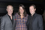 """(L-R) Actor Neal McDonough, Ruve McDonough and Ed Burns attend TNT's """"Mob City"""" Screening at TCL Chinese Theatre on November 21, 2013 in Hollywood, California."""