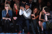 (L-R) Ali Wise, Nicky Hilton, Russell Simmons and Angela Simmons attend the Charlotte Ronson Fall 2012 fashion show for TRESemme during Mercedes-Benz Fashion Week  at Lincoln Center on February 10, 2012 in New York City.