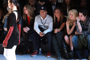 (L-R) Nicky Hilton, Russell Simmons, Angela Simmons and Sky Ferreira attend the Charlotte Ronson Fall 2012 fashion show for TRESemme during Mercedes-Benz Fashion Week  at Lincoln Center on February 10, 2012 in New York City.