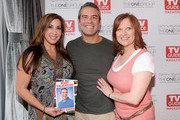 (L-R)Jacqueline Laurita, Andy Cohen and Caroline Manzo attend the TV Guide Magazine & Andy Cohen Book Signing Party on June 21, 2012 in New York City.