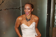 **UK TABLOID NEWSPAPERS OUT** Angela Griffin attends the TV Quick & TV Choice Awards Champagne reception held at The Dorchester on September 7, 2009 in London, England.