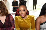 Angela Simmons attends the Tadashi Shoji Spring/Summer front row during New York Fashion Week: The Shows at Gallery I at Spring Studios on September 05, 2019 in New York City.