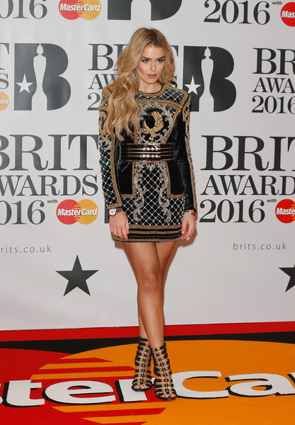 Brit Awards 2016 - Red Carpet Arrivals [flooring,footwear,fashion model,carpet,fashion,red carpet,catwalk,leg,shoe,thigh,brit awards,the o2 arena,london,england,red carpet arrivals,tallia storm]