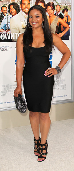 """Tamala Jones Actress Tamala Jones attends the film premiere of TriStar Pictures' """"Jumping The Broom"""" at the Arclight Cinerama Dome on May 4, 2011 in Los Angeles, California."""