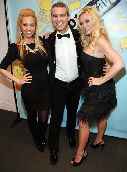"Tamra Barney (L-R) Dina Manzo, Andy Cohen and Tamra Barney attend Bravo's ""Watch What Happens Live: Andy's New Year's Party"" at the Bravo Club House at the Embassy Row Production Offices on December 31, 2010 in New York City."