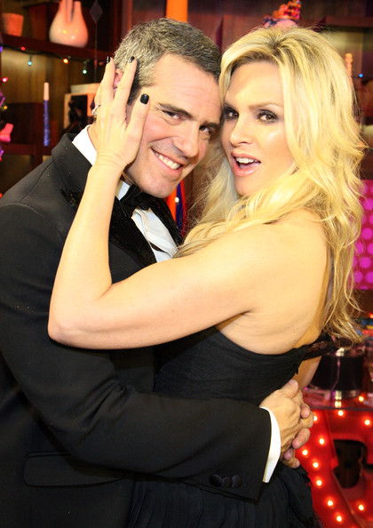 "Tamra Barney TV personalities Andy Cohen and Tamra Barney attend Bravo's ""Watch What Happens Live: Andy's New Year's Party"" at the Bravo Club House at the Embassy Row Production Offices on December 31, 2010 in New York City."