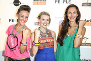 """(L-R) Lauren Mayhew, Kristen Kenney and Julia Price arrive at the premiere of """"Tanzania: A Journey Within"""" benefiting Malaria No More on May 2, 2014 in North Hollywood, California."""